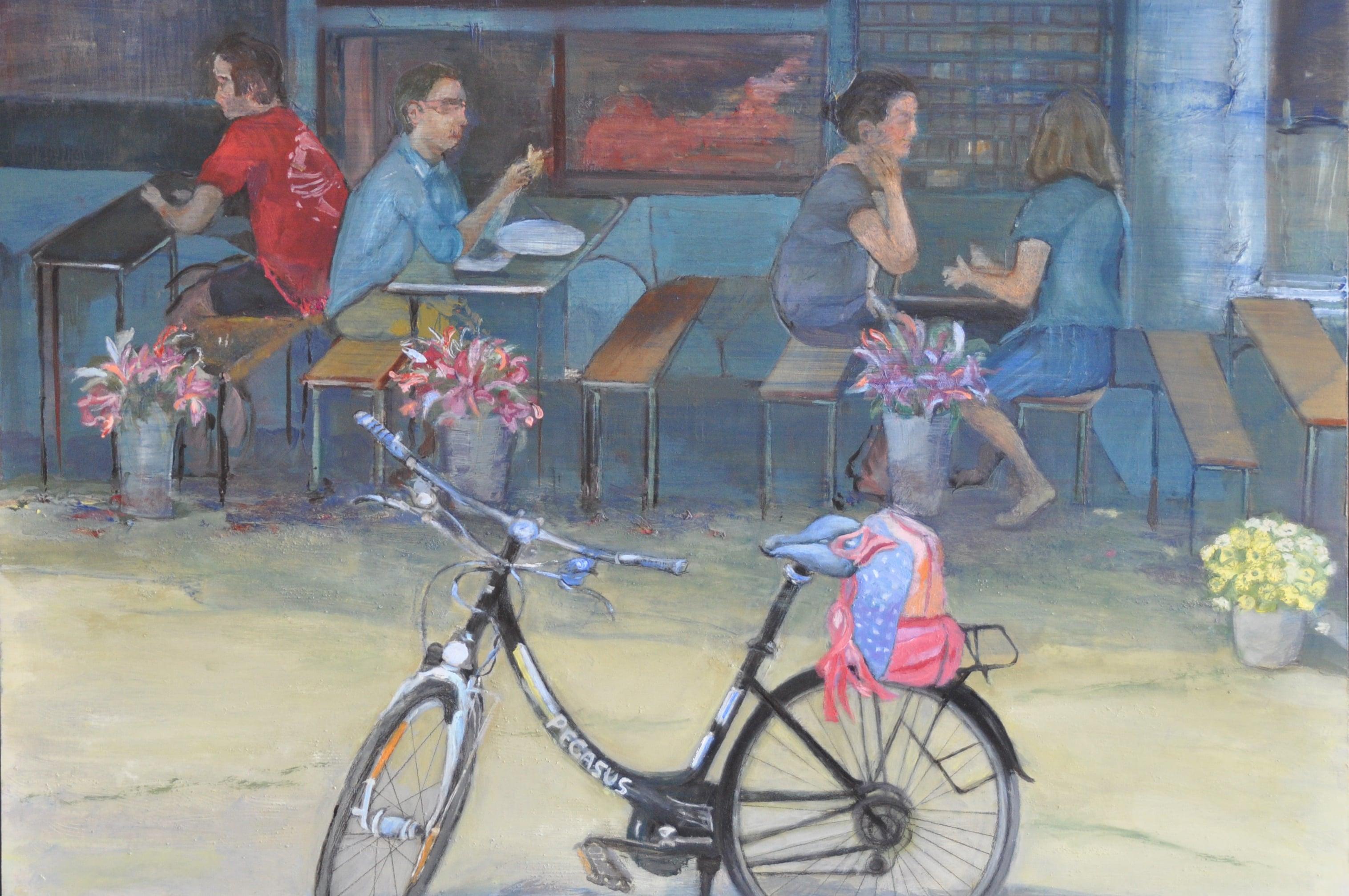 La bicicleta. 74x60. Óloeo sobre tablex