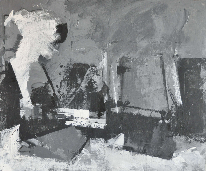 Pintura en grisalla. 55x46. Mixto sobre tablex