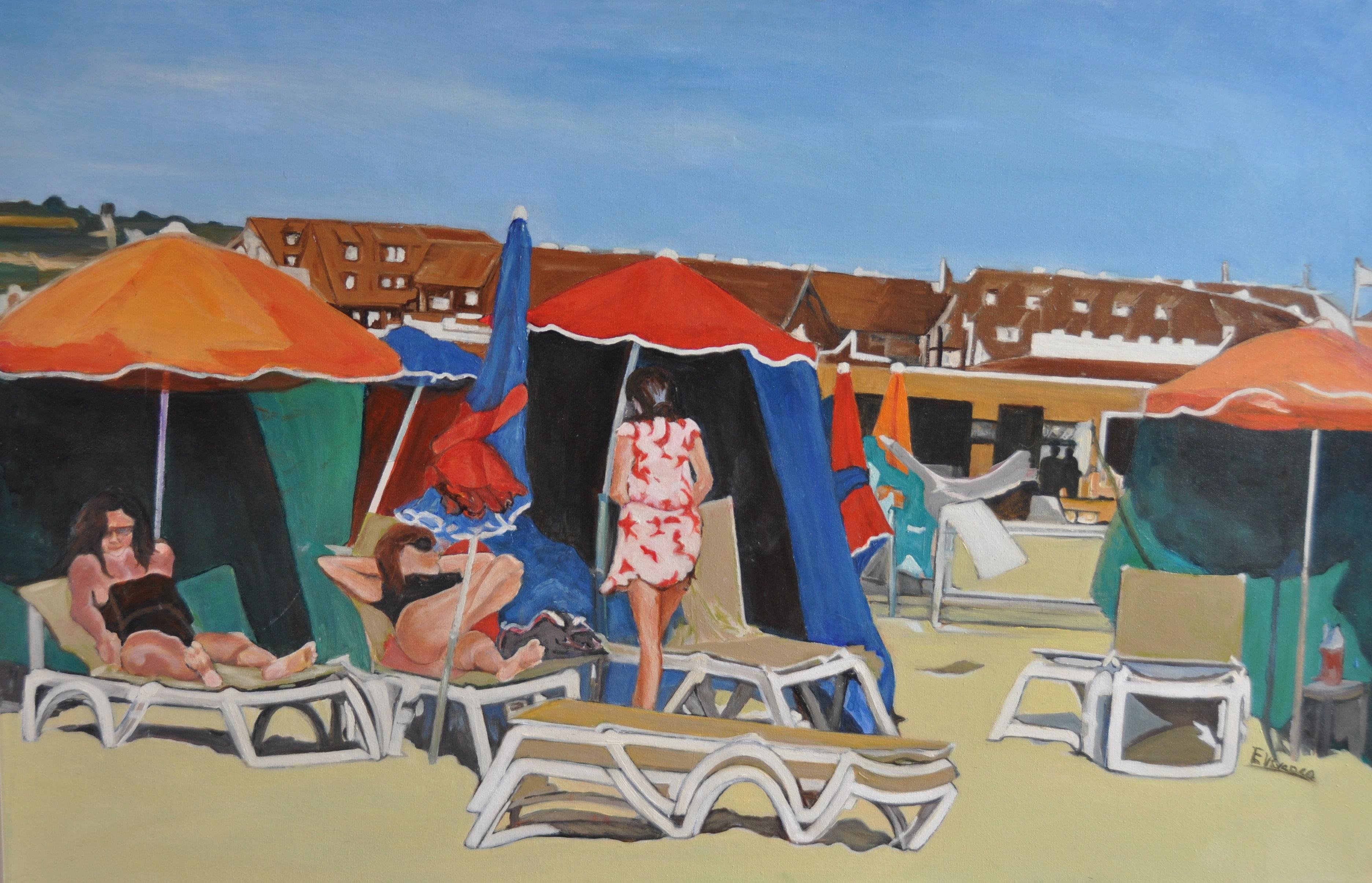 Playa, Normandía. 100x65. Óleo sobre lienzo