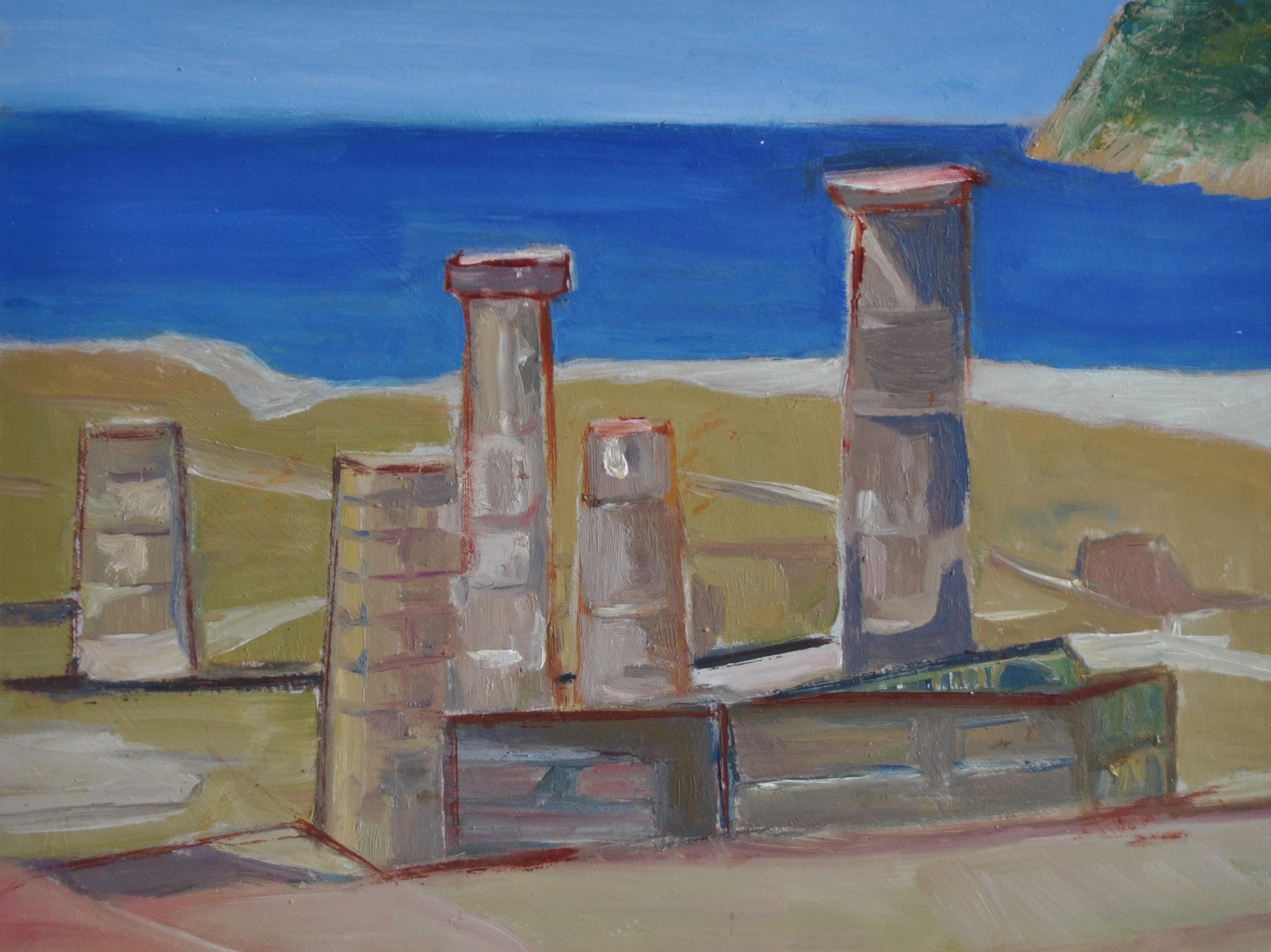 Ruinas, Bolonia. 30x24. Óleo sobre contrachapado